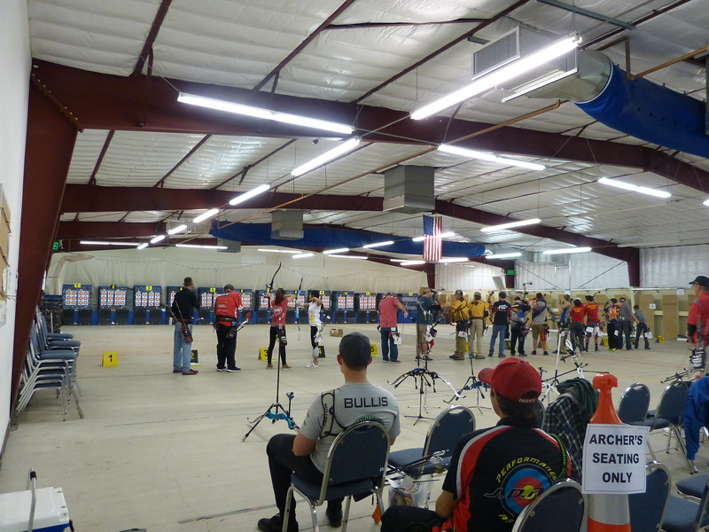 big indoor facility, with air conditioning, is also used by airsoft shooters