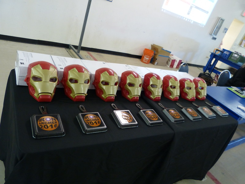 the prizes lined up -- pretty cool!