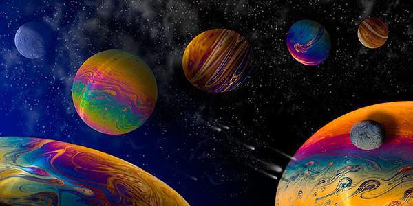 Steven solar system of soap bubble planets