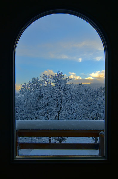 """Snowy Sunset Out My Front Door"" Mariposa, CA  Section: Professional Enlargements Class: Sunrise, Sunset, Clouds  Place: <b><font color=""red"">2nd</font></b>"