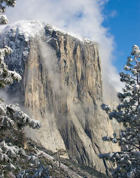 """El Capitan with a Touch of Snow""<br /> Yosemite Valley, CA<br /> <br /> Section: Professional Enlargements<br /> Class: Yosemite  <br /> Place: None"