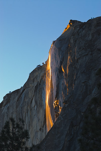 """Sunset Fire: Horsetail Falls"" Yosemite Valley, CA  Section: Professional Enlargements Class: Yosemite   Place: <b><font color=""red"">2nd</font></b>"