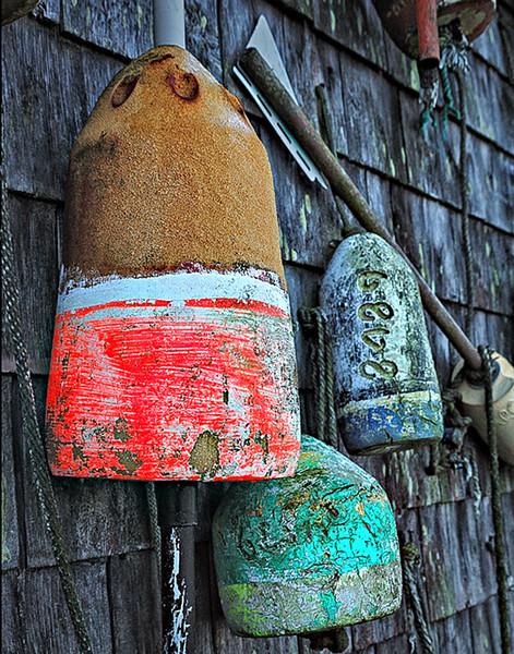 AW-Lobster buoys, Maine