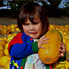 HM - Nicole in the pumpkin patch.