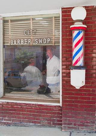 City Barber Shop<br /> By Wilfred Smith<br /> Large Color<br /> Score  11 August 2009