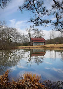 Title:            Alabama Barn and reflection Maker:         Wilfred Smith Catagory:    Large Color Score:          12 February 2009