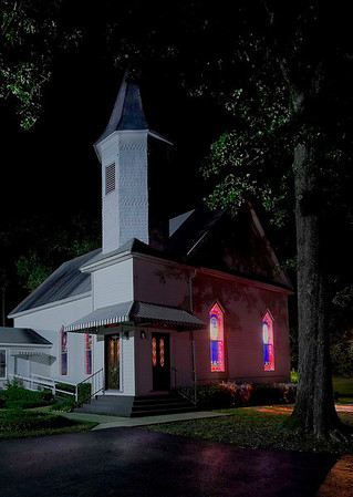 Moonlit church<br /> Catagory:  Large Color<br /> Maker.   Wilfred Smith<br /> Score:   13 September 2009