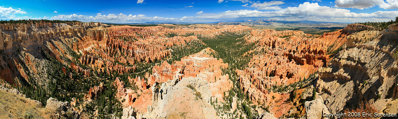 """Bryce Canyon Pano"" By Eric Sorensen Open-color Score - 11 February 2009"