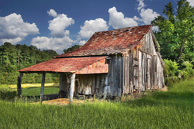 Barn in Bernice La. By Wilfred Smith Large Color Score 12 August 2009