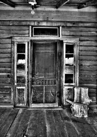 Prince House front door<br /> By Wilfred Smith<br /> Large Monochrome<br /> Score    12 August 2009