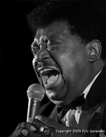 """""""Percy Sledge  - 2006""""<br /> By Eric Sorensen<br /> Small B+W<br /> Score - 11 August 2009"""