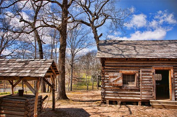 """Mrs Lee's Log Cabin""<br /> by Harvey Jelks<br /> Open Color<br /> Score 12"