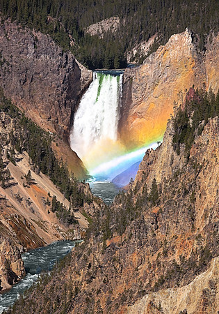 Maker:  Wayne Tabor<br /> Title:  Yellowstone Falls Rainbow<br /> Category:  Landscape/Travel<br /> Score:  13