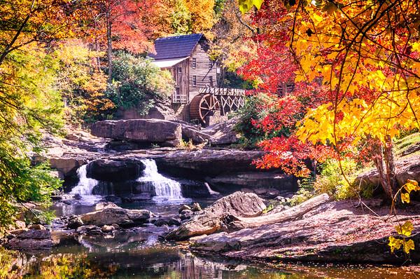 Maker:  Roger Lockridge<br /> Title:  Fall at Babcock State Park<br /> Category:  Landscape/Travel<br /> Score:  13