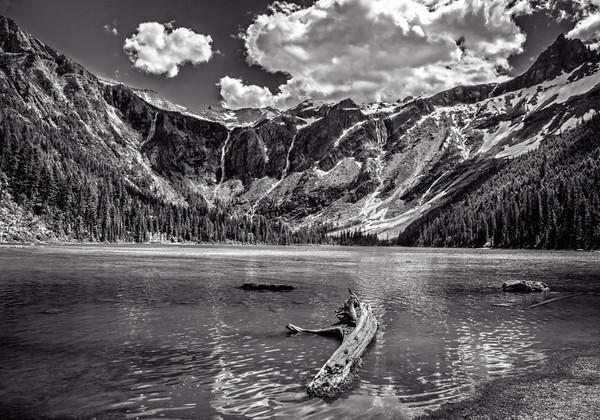 Maker:  Wayne Tabor<br /> Title:  Avalanche Lake<br /> Category:  Black & White<br /> Score:  13