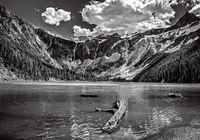 Maker:  Wayne Tabor Title:  Avalanche Lake Category:  Black & White Score:  13