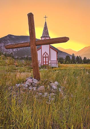 Maker:  Wayne Tabor<br /> Title:  Native Church Sunrise<br /> Category:  Pictorial<br /> Score:  13