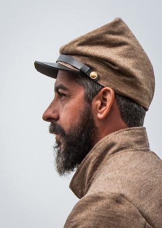 Maker:  Don Angle<br /> Title:  Civil War - Profile<br /> Category:  Portraiture<br /> Score:  11