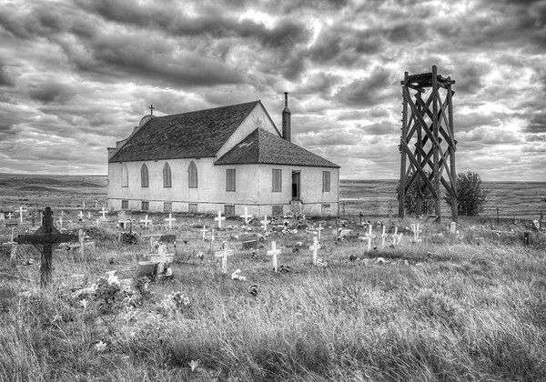 Maker:  Wayne Tabor<br /> Title:  Deserted Indian Church<br /> Category:  Black & White<br /> Score:  12