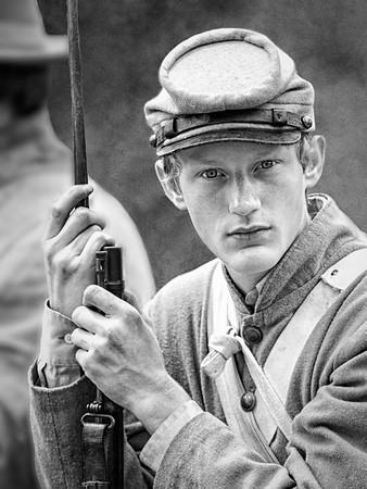 Maker:  Brian M. Buckner<br /> Title:  Waiting For the Bugle<br /> Category:  B&W<br /> Score:  12
