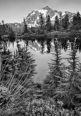 Maker:  Wayne Tabor<br /> Title:  Mt. Baker Reflection<br /> Category:  Black & White<br /> Score:  13