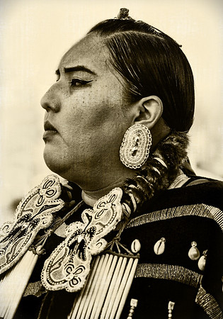 Maker:  Wayne Tabor<br /> Title:  Proud Blackfoot Woman<br /> Category:  Black & White<br /> Score:  12