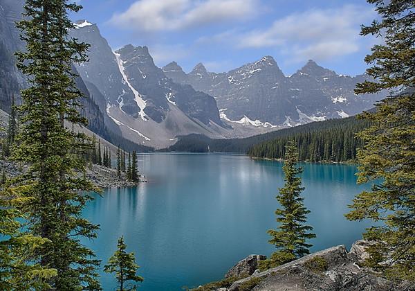 Maker:  Wayne Tabor<br /> Title:  Moraine Lake<br /> Category:  Landscape/Travel<br /> Score:  14