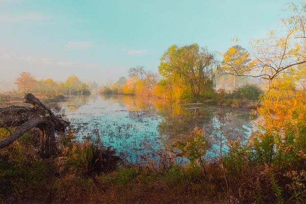 Maker:  Dale Robertson<br /> Title:  Autumn Pond<br /> Category:  Landscape/Travel<br /> Score:  13