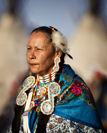 Maker:  Wayne Tabor<br /> Title:  Blackfoot Woman<br /> Category:  Pictorial<br /> Score:  11