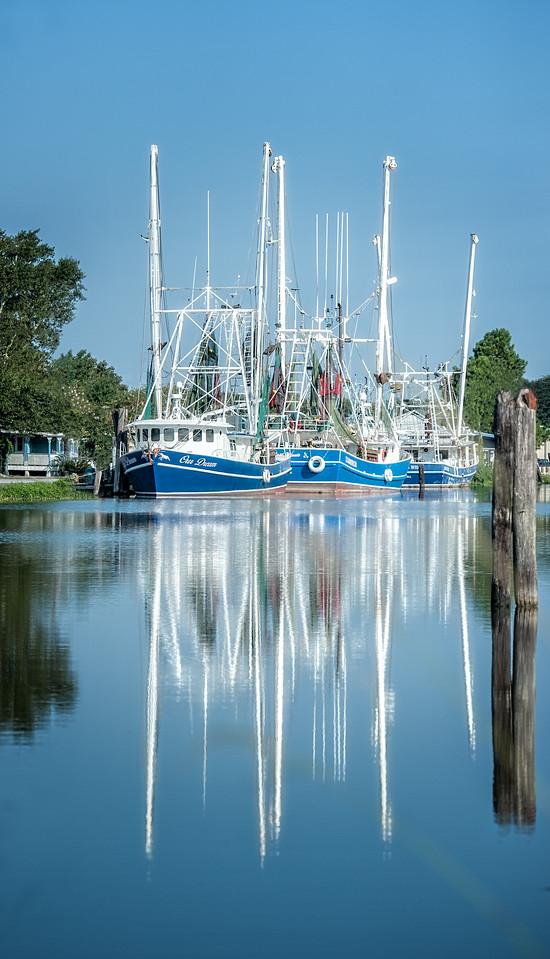 Maker:  Linda Holloway Title:  Mr. Tutu Blanchard's Shrimp Boats Category:  Pictorial Score:  11