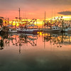 Maker:  Larry Phillips<br /> Title:  Shrimp Boats at Sunset<br /> Category:  Landscape/Travel<br /> Score:  13