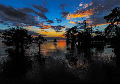 Maker:  Mike Smith Title:  Caddo Lake Sunset Category:  Landscape/Travel Score:  11