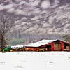 Maker:  Wayne Tabor<br /> Title:  Winter Farm<br /> Category:  Pictorial<br /> Score:  11