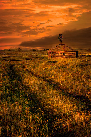 Maker:  Wayne Tabor<br /> Title:  Homestead Sunset<br /> Category:  Pictorial<br /> Score:  15
