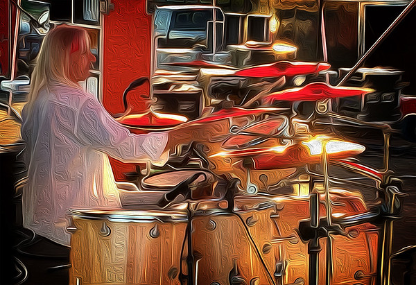 Maker:  Roger Hinton<br /> Title:  The Drummer<br /> Category:  Altered Reality<br /> Score:  13