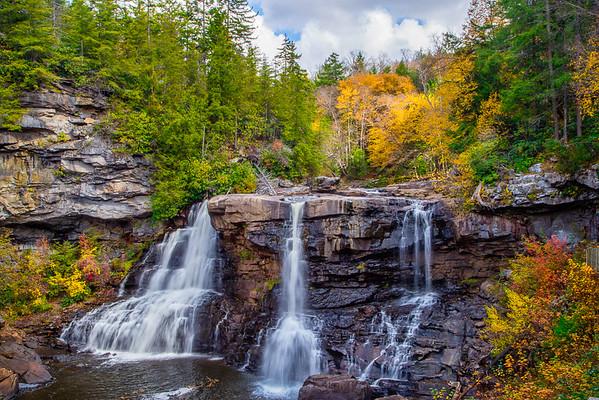 Maker:  Cindy Circu<br /> Title:  Black Water Falls<br /> Category:  Landscape/Travel<br /> Score:  12