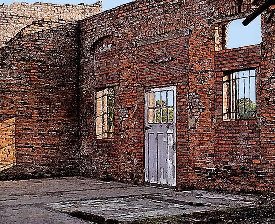 Fresco Brick Wall<br /> Non-traditional - 11<br /> Marilyn Hammett  , 2008