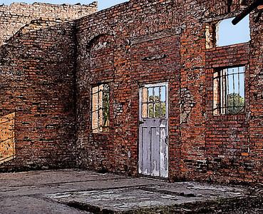 Fresco Brick Wall Non-traditional - 11 Marilyn Hammett  , 2008
