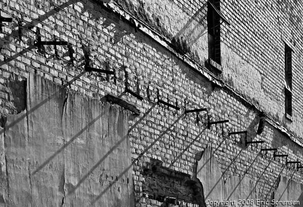 """Monroe Brick Wall #437""<br /> By Eric Sorensen<br /> Large-Monochrome<br /> Score 12  , 2008"