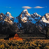Maker:  Wayne Tabor<br /> Title:  Teton Barn in Early Light<br /> Category:  Pictorial<br /> Score:  13