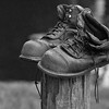 Maker:   Ronald Austin<br /> Title:    Old Boots<br /> Category:  Black & White<br /> Score:  12