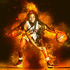 Maker:  Mary Haddox<br /> Title:  Jadah on Fire<br /> Category:  Altered Reality<br /> Score:  15