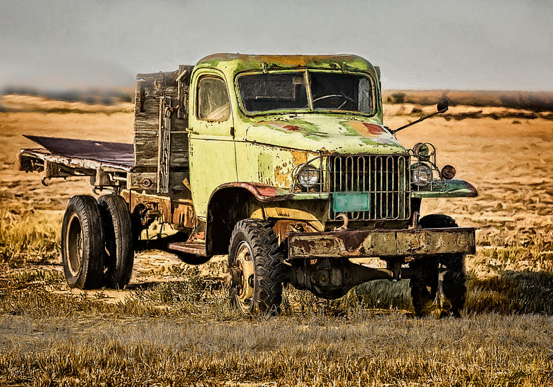 Maker:  Wayne Tabor<br /> Title:  Farm Truck<br /> Category:  Pictorial<br /> Score:  13