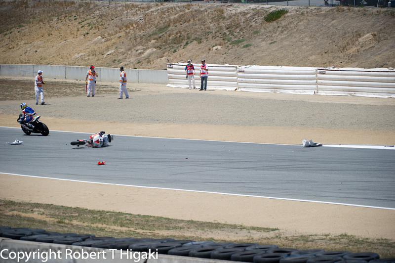 A little accident between turns 9 and 10