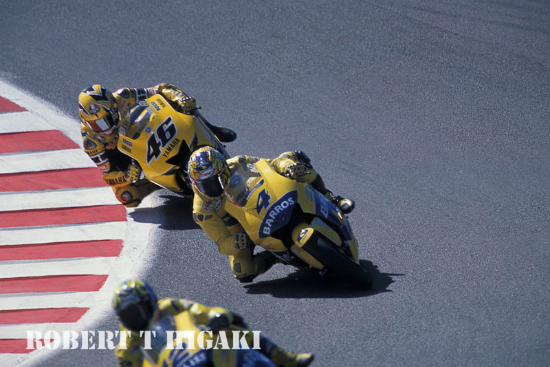 I know #46 is Valentino Rossi. These guys are in the corkscrew.