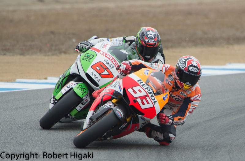 Marc Marquez and Bryan Staring