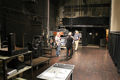 Backstage crew of the Herbst Theater.
