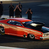 Yes, this too is a 1970 Plymouth Duster!  instead of the 340 V8 Wedge, this car sports an 854 cubic inch wedge and probably has a blower up top there as well.