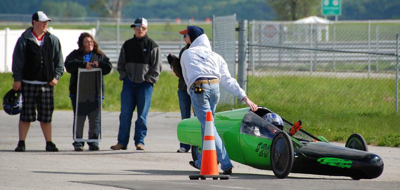 Maneuverability tests: Backing up