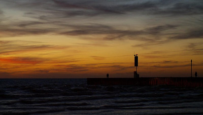 #24 'Autumn Sunset- Bayfield' by oddmanout. 10/21/07.  Lumix L1.